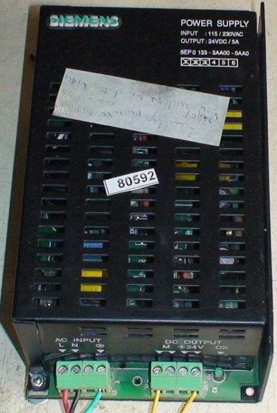 Power Supply 24V DC 5A 6EP0 133-3AA00