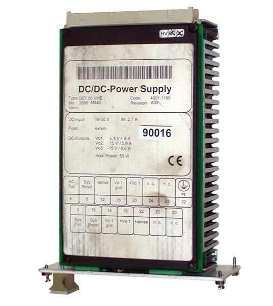DCT 50 VME Power Supply