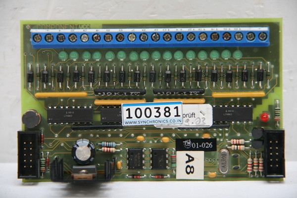 Input Output Card A8 of Knitting Machine