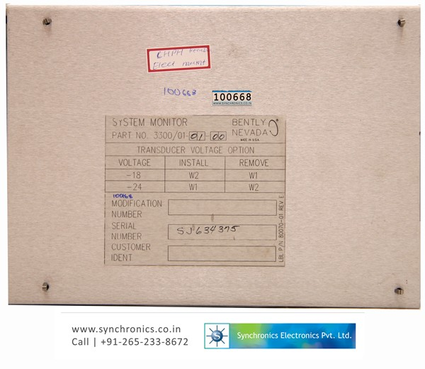 Dual Vibration Monitor Part No. 3300/15