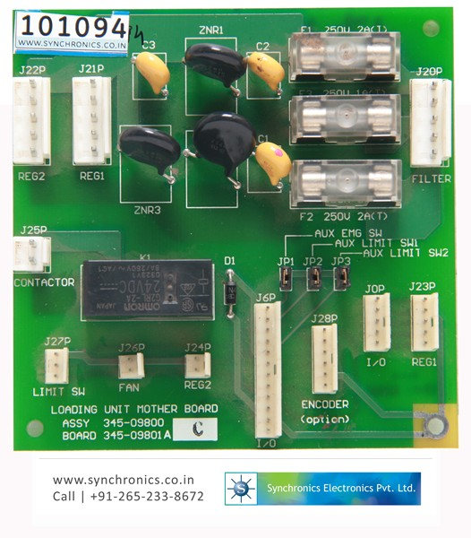 Loading Unit Mother Board 345-09800