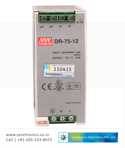 75W Single Output Industrial DIN Rail Power Supply DR-75-12